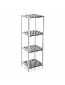 "Bathroom furniture with 4 shelves, model ""White"""