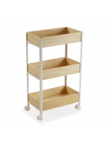 """Cart with wheels and 3 shelves, model """"White"""""""