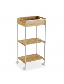 """Cart with wheels and 3 shelves, model """"Bambú"""""""
