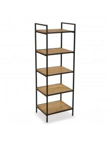 """Bathroom furniture with 5 shelves, model """"Gym"""" - Black color"""