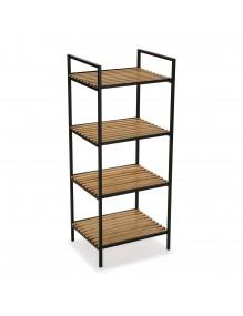"""Bathroom furniture with 4 shelves, model """"Gym"""" - Black color"""