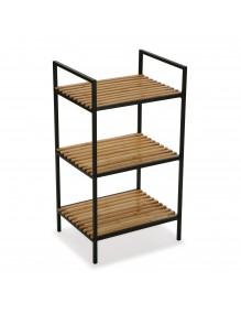 """Bathroom furniture with 3 shelves, model """"Gym"""" - Black color"""