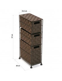 """Furniture for your bathroom with 3 drawers, model """"Brun"""""""
