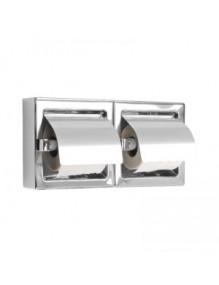 "Double dispenser of domestic toilet paper, model ""Stainless steel"""