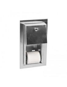 "Dispensador de papel higiénico doméstico, modelo ""Semiencastrable"""