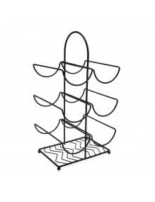 Table bottle rack. With capacity for 6 bottles