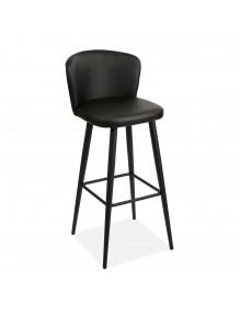Silla de cocina en color negro, modelo Pub