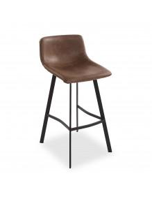 Kitchen stool in dark brown, model Paris