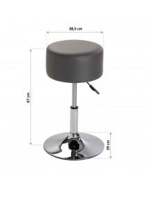 Kitchen stool in gray, model Polypiel