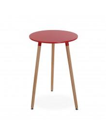 """Mesa de madera en color rojo, modelo """"Round"""""""