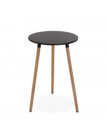 """Mesa de madera en color negra, modelo """"Round"""""""