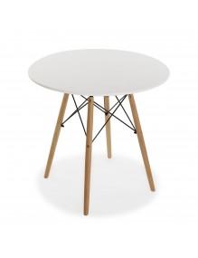 "Mesa de madera en color blanco, modelo ""Tensor"""