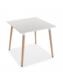 """Wooden table in white, model """"Square"""""""
