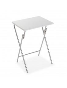 Mesa auxiliar plegable blanca, modelo Eco