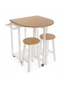 Mesa plegable mas 2 sillas, modelo Islandia