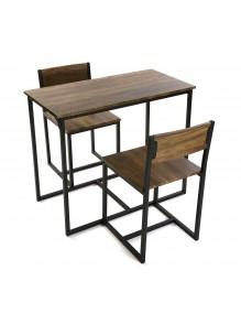 Juego de mesa y 2 sillas, modelo Nika