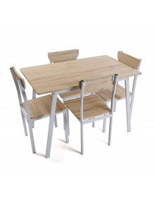 Set of table and 4 chairs, model Tauro