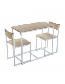 Juego de mesa y 2 sillas, modelo Neo