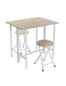 Juego de mesa y 2 sillas, modelo Kit