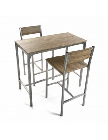 Set of table and and 2 chairs, model London