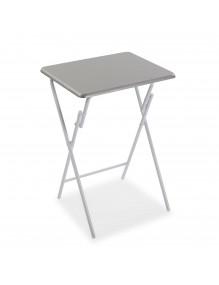 Folding side table, model Silver
