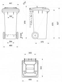 Contenedor con pedal capacidad 120 Litros