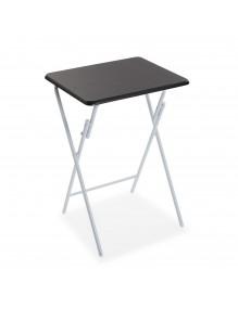 Mesa auxiliar plegable, modelo negra