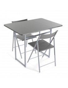 """Folding table plus 2 chairs, model """"Silver"""""""