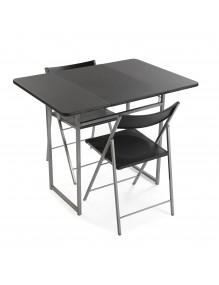 """Mesa plegable mas 2 sillas, modelo """"Graphit"""""""