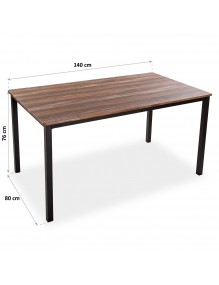 "Wooden table, model ""Black"" 76x140x80 cm"