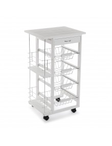 Kitchen cabinet with 1 drawer and 4 shelves, model Kit