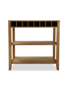 Kitchen cabinet with 2 shelves and wine rack area