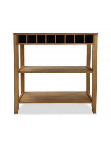 Mueble de cocina con 2 estantes y zona botellero