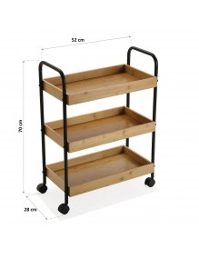 """Cart with wheels and 3 shelves, model """"Cuisine"""""""