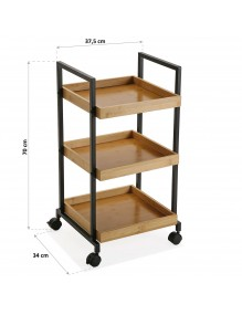 """Cart with wheels and 3 shelves, model """"kitchen"""""""