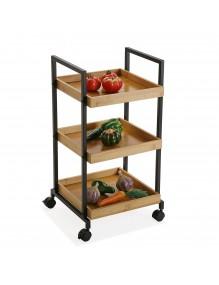 """Carro con ruedas y 3 estantes, modelo """"kitchen"""""""