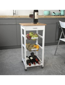 Kitchen cabinet with 2 shelves a drawer and wine rack area