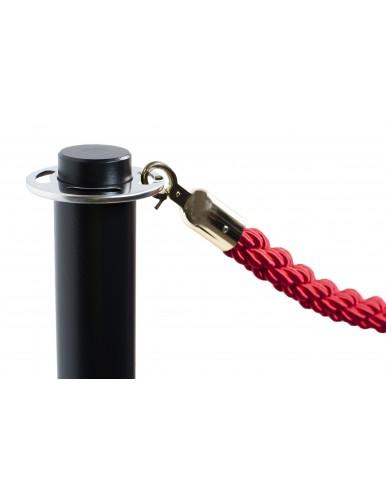 Two black cord separator posts (2.5m cord)