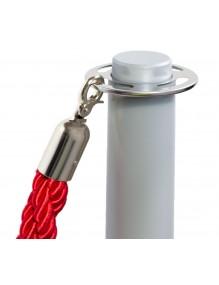 Dos postes separadores de cordón de 2,5 m. en color plata