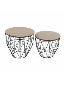 """Set of two side tables, model """"Double"""""""