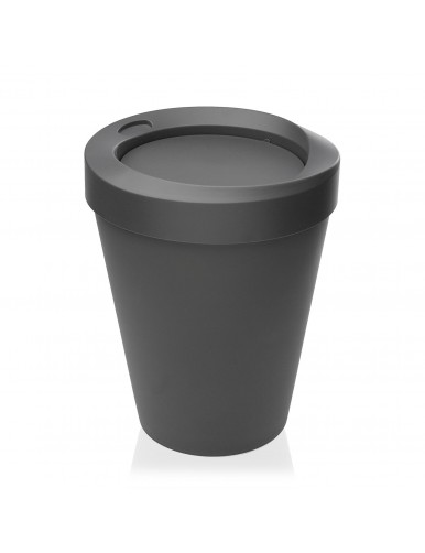 Round polypropylene waste paper bin. 9 Litres (Gray)