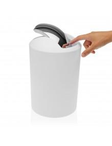 Round polypropylene waste paper bin. 7 Litres (White)