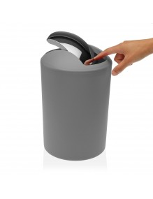 Round polypropylene waste paper bin. 7 Litres (Gray)