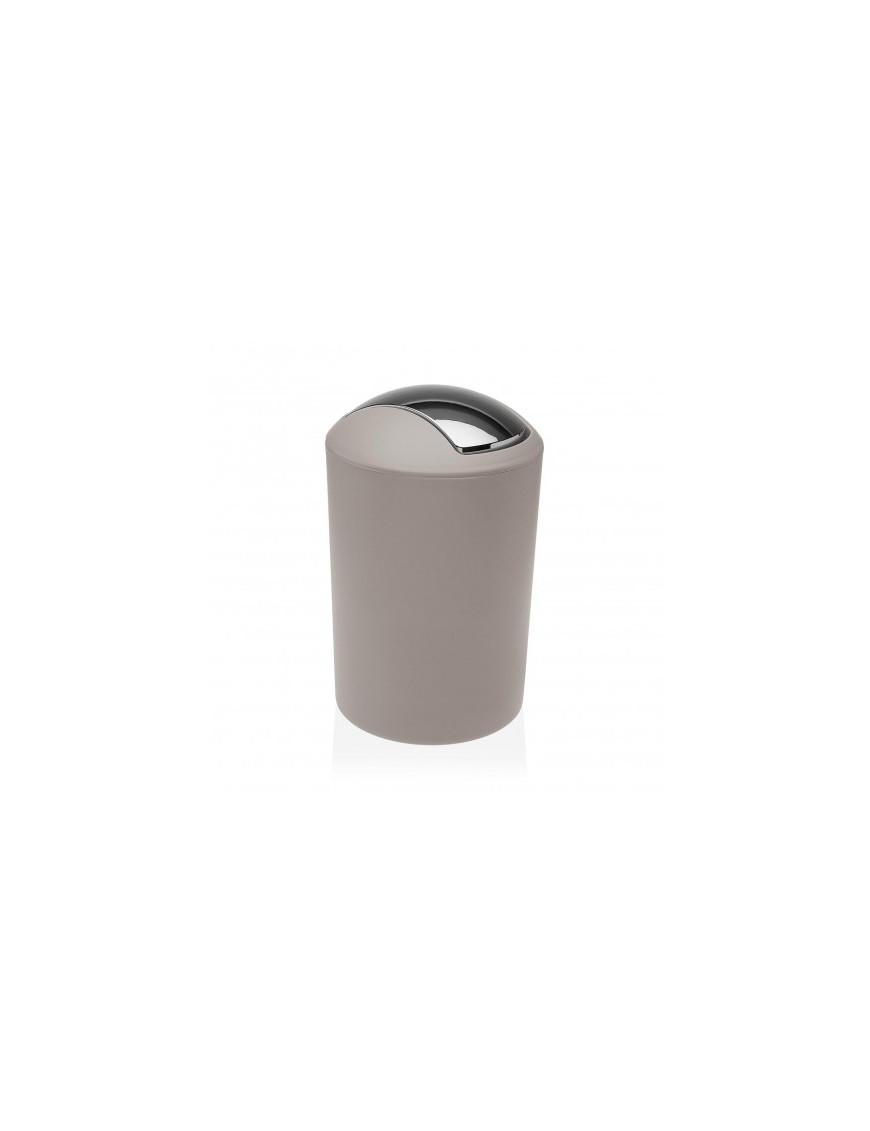 Round polypropylene waste paper bin. 7 Litres (Beige)