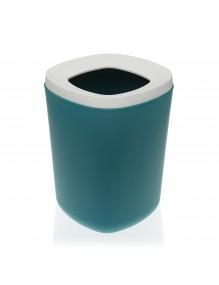 Papelera de polipropileno en color verde oscuro, capacidad 8 litros