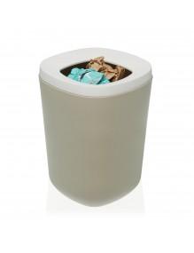 Polypropylene waste paper bin. 8 Litres (Beige)