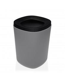 Papelera de polipropileno en color gris, capacidad 8 litros