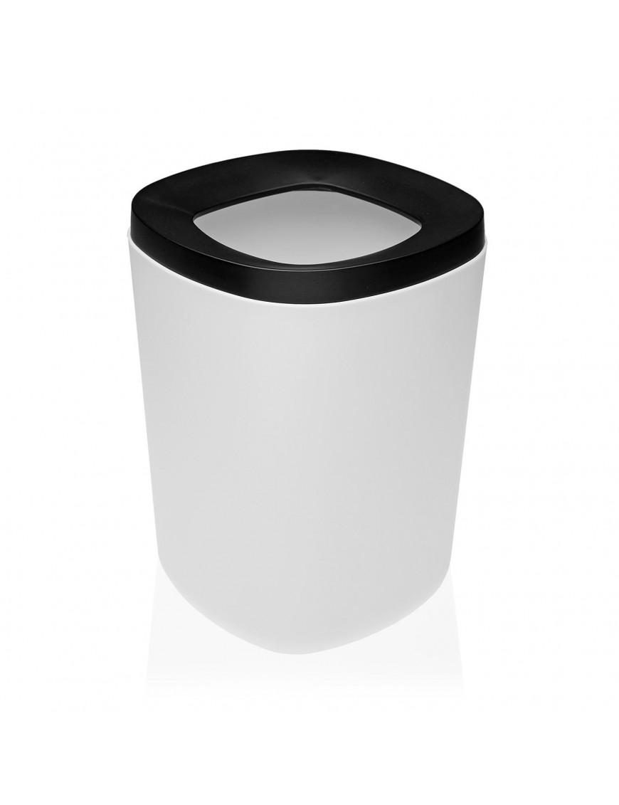 Polypropylene waste paper bin. 8 Litres (White)