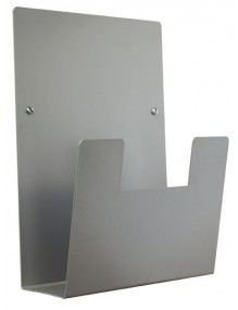 Expositor para folletos de pared metálico A4V (Plata)