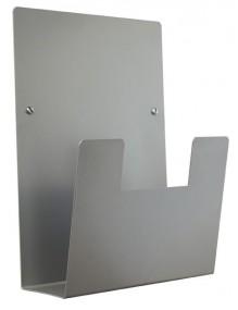 Expositor para folletos de pared metálico A4V (Plata)